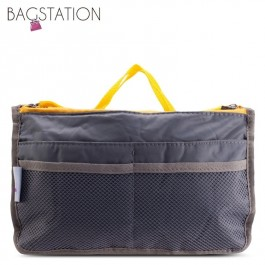 Bagstationz Premium Lightweight & Water-Resistant Multi-Compartment BAG IN BAG Organizer (Grey)