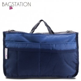 Bagstationz Premium Lightweight & Water-Resistant Multi-Compartment BAG IN BAG Organizer (Navy Blue)