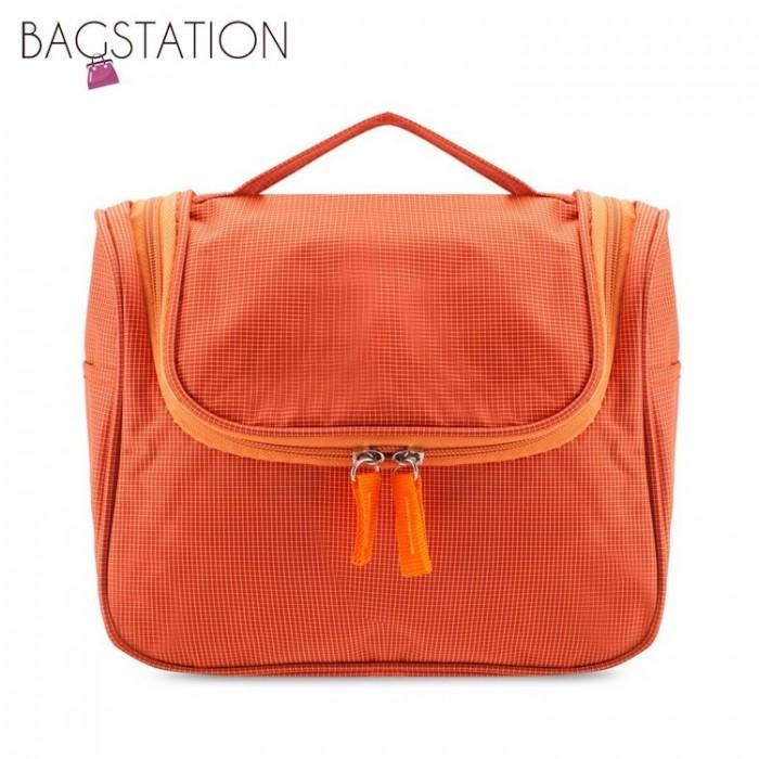 c574192deae2 BAGSTATIONZ Lightweight Water Resistant Travel Organizer And Toiletries  Pouch (Orange)