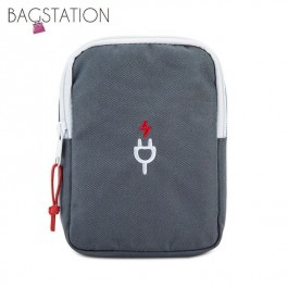 BAGSTATIONZ Travel Gadget/Power Bank Pouch (Grey)