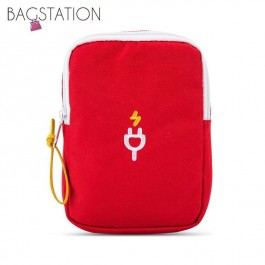 BAGSTATIONZ Travel Gadget/Power Bank Pouch (Red)