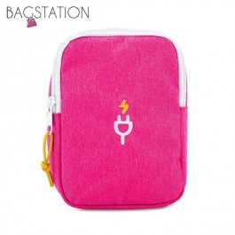 BAGSTATIONZ Travel Gadget/Power Bank Pouch (Rose Pink)