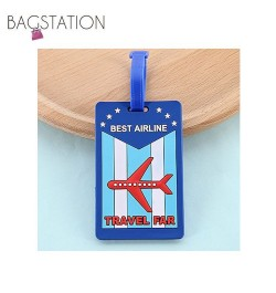 Assorted designs Soft PVC Luggage Tag (Airline)