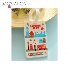 Assorted designs Soft PVC Luggage Tag (London)