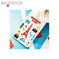 Assorted designs Soft PVC Luggage Tag (Paris)