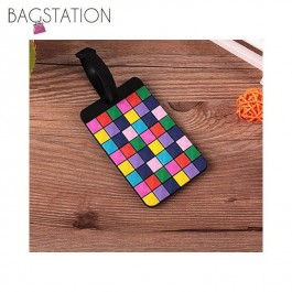 Geometrical Patterns Luggage Tag (Squares)