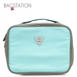 BAGSTATIONZ Colour Block Lightweight Water Resistant Travel Toiletries Pouch-Blue