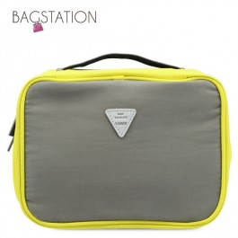 BAGSTATIONZ Colour Block Lightweight Water Resistant Travel Toiletries Pouch-Grey