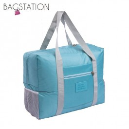 BAGSTATIONZ Travel Bag With Luggage Carrier Holder-Blue