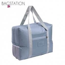 BAGSTATIONZ Travel Bag With Luggage Carrier Holder-Grey