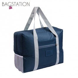 BAGSTATIONZ Travel Bag With Luggage Carrier Holder-Navy Blue