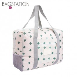 BAGSTATIONZ Travel Bag With Luggage Carrier Holder-White
