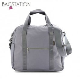 BAGSTATIONZ Water Resistant Travel Bag-Grey