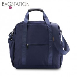 BAGSTATIONZ Water Resistant Travel Bag-Navy Blue