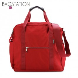 BAGSTATIONZ Water Resistant Travel Bag-Red