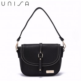 UNISA Faux Leather 2-Way Usage Sling Bag-Black