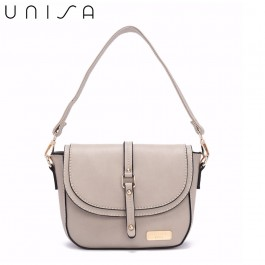UNISA Faux Leather 2-Way Usage Sling Bag-Grey