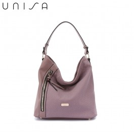 UNISA Duo-Texture Hobo Bag-Purple