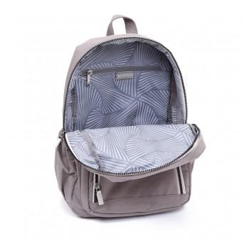 BAGSTATIONZ Crinkled Nylon Backpack With Zebra Strap-Khaki