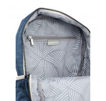 BAGSTATIONZ Crinkled Nylon Backpack With Zebra Strap-Navy Blue