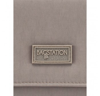 BAGSTATIONZ Crinkled Nylon Bi-Fold Wallet-Khaki