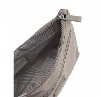 BAGSTATIONZ Crinkled Nylon Wristlet Pouch-Khaki