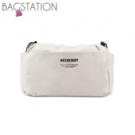 BAGSTATIONZ Canvas Bag In Bag Organizer-Beige