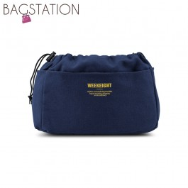 BAGSTATIONZ Canvas Bag In Bag Organizer-Navy Blue