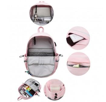BAGSTATIONZ Fashion Laptop Backpack-Pink