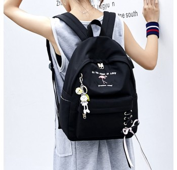 BAGSTATIONZ Fashion Laptop Backpack-Black