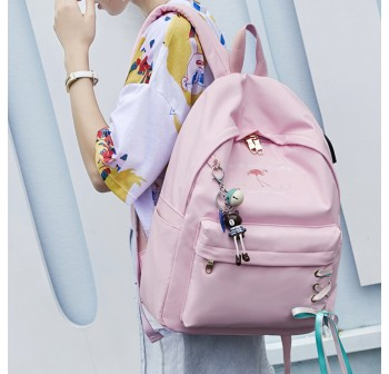 BAGSTATIONZ Fashion Laptop Backpack-Pink