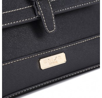 UNISA Saffiano 2-Way Usage Sling Bag-Black