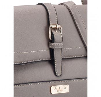UNISA Saffiano 2-Way Usage Sling Bag-Grey