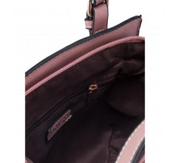 UNISA Saffiano Convertible Satchel-Pink
