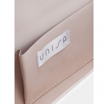 UNISA Pleated Clutch With Glittering Stones Embellishment-Apricot