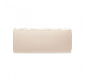 UNISA Pleated Clutch With Glittering Stones Embellishment-Gold