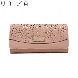 UNISA Perforated Facile Bi-Fold Wallet-Pink