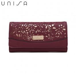 UNISA Perforated Facile Bi-Fold Wallet-Purple