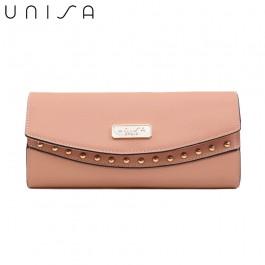 UNISA Saffiano Ladies Bi-Fold Wallet-Pink