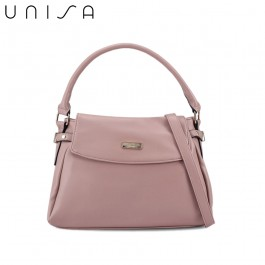 UNISA Faux Leather Convertible Satchel-Pink