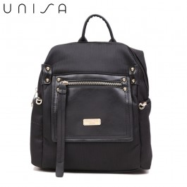 UNISA Deboss Backpack-Black