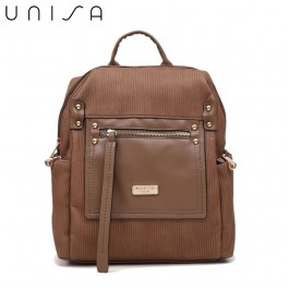 UNISA Deboss Backpack-Khaki