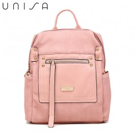 UNISA Deboss Backpack-Pink