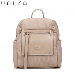 UNISA Deboss Backpack-Taupe