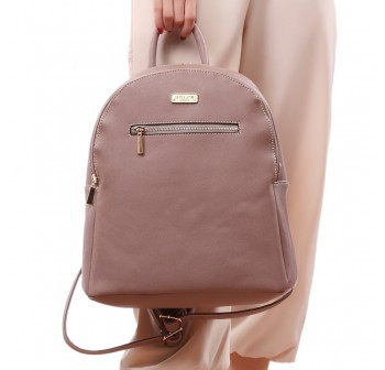 UNISA Saffiano Backpack With Front Zip-Purple