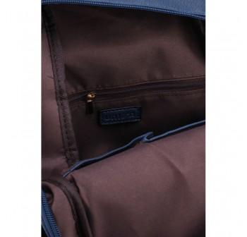UNISA Pebbled Studded Backpack-Navy Blue
