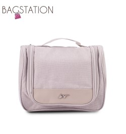 BAGSTATIONZ Lightweight Travel Toiletries Large Pouch-Beige