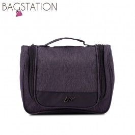 BAGSTATIONZ Lightweight Travel Toiletries Large Pouch-Black