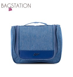 BAGSTATIONZ Lightweight Travel Toiletries Large Pouch-Blue