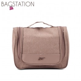 BAGSTATIONZ Lightweight Travel Toiletries Large Pouch-Brown